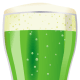 A glass of green beer for St. Patrick's Day