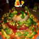 Sashimi cake (http://www.sushiordeath.com/v2/wp-content/uploads/2008/02/wedding_cake_lg.jpg)