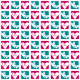 Free checked hearts scrapbook paper: teal and magenta with white background
