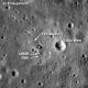 August 2009. Second image of Apollo 11 Landing Site. Previous photo magnified 2x. Arrow points to Neil Armstrong's tracks.