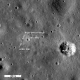 August 2009. Second image of Apollo 11 Site. (See link for more info on labeled instruments.)