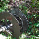 a pulley on Little American Island, left-over from the mining days.