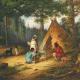 Caughnawaga (Kahnawake) Indians at Camp, painted by Cornelius Krieghoff
