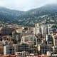 The mountains behind Monaco