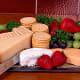 Cheese, fruit, and cracker platter
