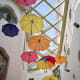 Umbrellas in the roof at Reok Palace, Szeged.