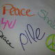 Different ways to write peace.