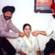 I and my brother, with our mom sharing a lighter moment