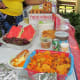 Delicious food such as tacos, salads, hotdogs, hamburgers and fresh fruit were enjoyed by all in attendance.