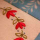 Flower Embroidery Designs on Table Mat