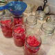 Step Five: Fill each of your jars with diced tomatoes, juice and all.