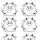 Ox Motifs and Patterns # 6 -- Round Oxen