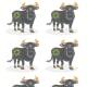 Ox Motifs and Patterns # 2 -- Papercut Ox Designs