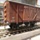 Airfix/Dapol British Railways' Meat Van with Parkside underframe and Romford cast brass buffers