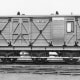 Somerset & Dorset Joint Railway (S&DJR) goods brake fitted with side doors for loading mail and small consignments. Extended vertical guard's duckets for viewing along the train)