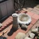 The concrete birdbath could be one you already have or a new one. They are usually two component parts - Top Basin and Bottom Pedestal.