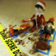 The nutcracker massacre is one of the worst in North Pole history.  The elf looks guilty.