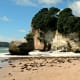 The beautiful beach at Cathedral Cove.