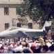 An F-15 on the National Mall, Washington, DC, June 1991.