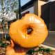 A delicious maple-glaze donut