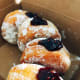 Raspberry jam-filled donuts