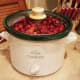 Then I cooked my cranberries on high for a couple of hours with the cover closed.