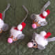 Each handmade mouse ornament has its own personality.