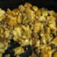 Chestnut Sausage Stuffing: Bake at 350 degrees for about 45 minutes or until heated through.  You can keep this warm in the oven (at about 235 degrees) until the rest of the dinner is ready.