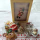 Note the Santa in Box was made by Shiny Brite Company that created many of the vintage Christmas ornaments