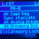 3. Press ENTER and see that my list has changed to the BANK PR-B containing AX Dreaming Box with other Tones in THAT Bank