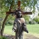 Collect PokeBalls at our Risen Christ statue