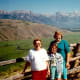 My mother, niece, and me in this part of the ranch with the Teton Mountains as our backdrop