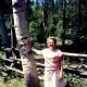 My mother near Teton Village