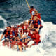 We were told to hang on to ropes inside the raft.