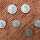 The coins in my miniature box - Victoria & Albert above, 4 of the children below