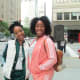 My daughter Wanisha and Jaleesa, prepare to go out for our adventures of shopping and restaurant hopping. They also attended Cirque du Soleil with their cousin Spencer, who also lives in Chicago. They enjoyed the show.