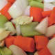 Cut the veggies and smash the garlic