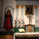 Mission San Francisco Solano - the altar of the church