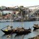 Barcos rabelos along the Cais de Gaia.