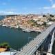 View over Porto and the River Douro from the terrace of Mosteiro da Serra de Pilar.