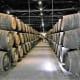 Barrels of aging port wine.