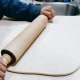 Turn out the chilled dough on a baking mat or floured surface. Roll it out to form a rectangle or square.