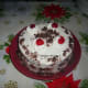 This Black Forest cake is the half ingredients of this recipe.