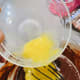 Lightly beat the eggs in a small dish and add to the chocolate mixture.