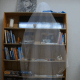 Transparent image over background to create see through ghost image.