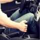Resting your hand on the gear stick while driving a manual transmission vehicle, Full view