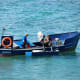 Fishermen off Playa de las Canteras.