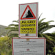 Warning sign at Jardin Botanico.