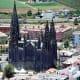 Iglesia de San Juan Bautista towering over Arucas.