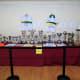 Sporting memorabilia in Casa de la Cultura, Arucas.